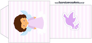 Brunette Angel Girl, Free Printable Tea Bag.
