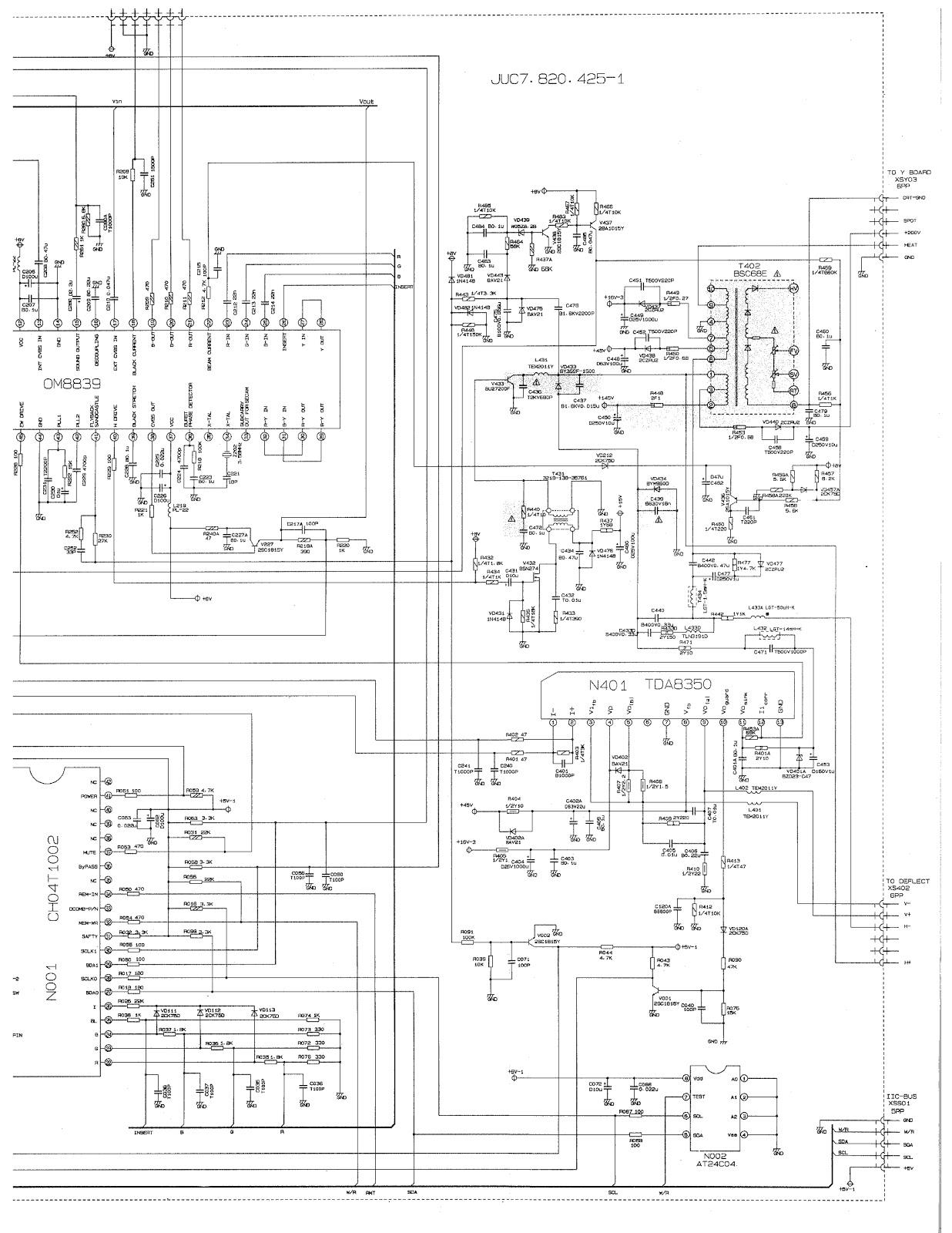 philips tv power supply diagram