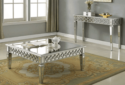 Sophie Mirrored Coffee Table Sofa Furniture