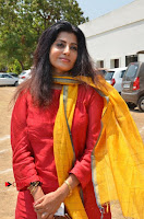 Tamil Actress Priya Raman Pos in Red Salwar Kameez at Producer Council Election 2017  0004.jpg