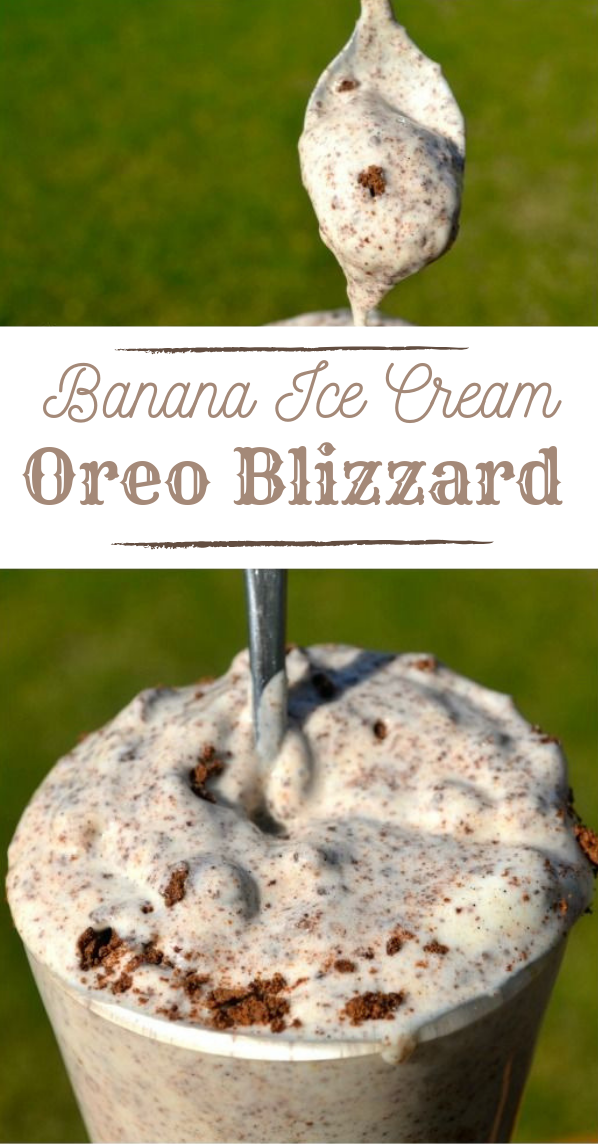 Healthy Oreo Blizzard #drink #oreo