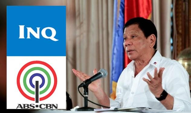 Duterte to Inquirer, ABS-CBN: 'Hindi ako papayag na babuyin ninyo and Pilipinas'