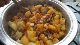 Dana Etli Patates Yemegi tarif nasıl yapılır