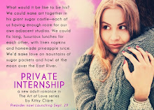 Private Internship, writing NA romance as Kitsy Clare