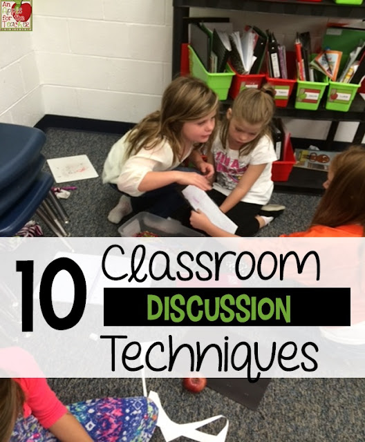 Classroom discussion shouldn't always be teacher-led. In this guest post on Minds in Bloom, 10 classroom discussion techniques are shared to mix up the style of discussion and to put students in charge of speaking, listening, and sharing. You'll find a mixture of techniques in this post, some of which are kinesthetic, some of which are auditory, and some of which are written!