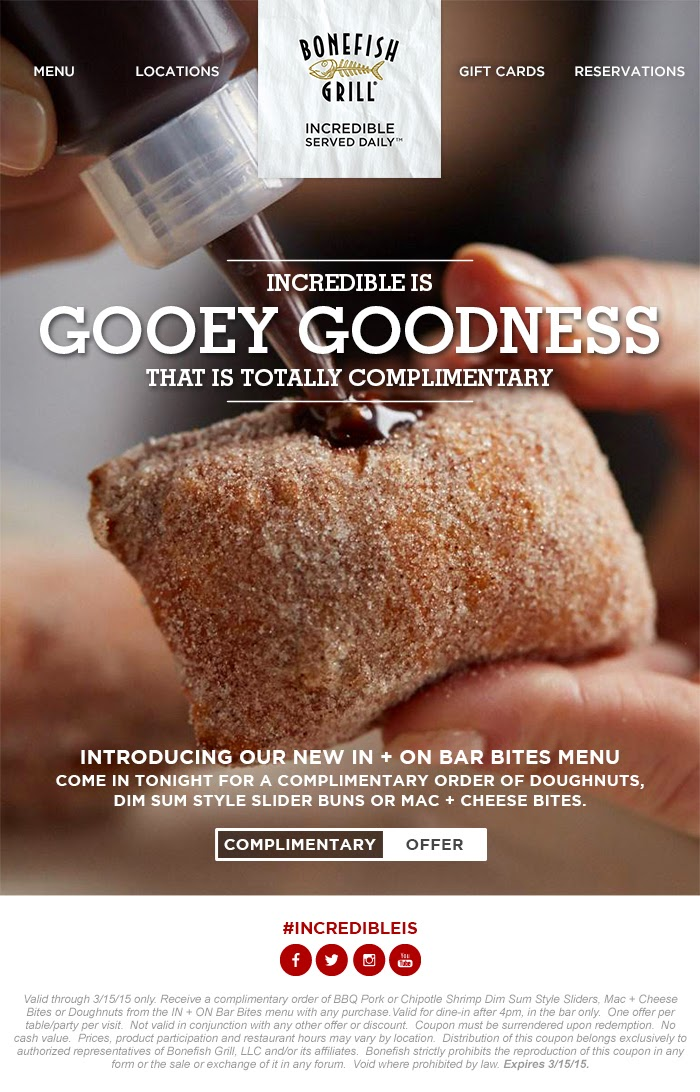 Free Bar Bites Offer at Bonefish Grill Through March 15  via www.productreviewmom.com