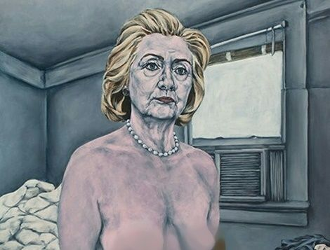 Donald Trump Supporters Retaliate With Naked Statues of Hilary Clinton (PHOTOS)
