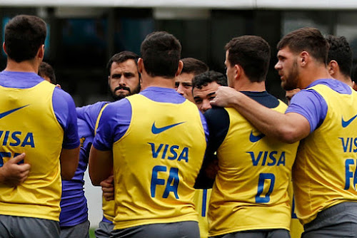Formación de Los Pumas ante Sudáfrica en Mendoza