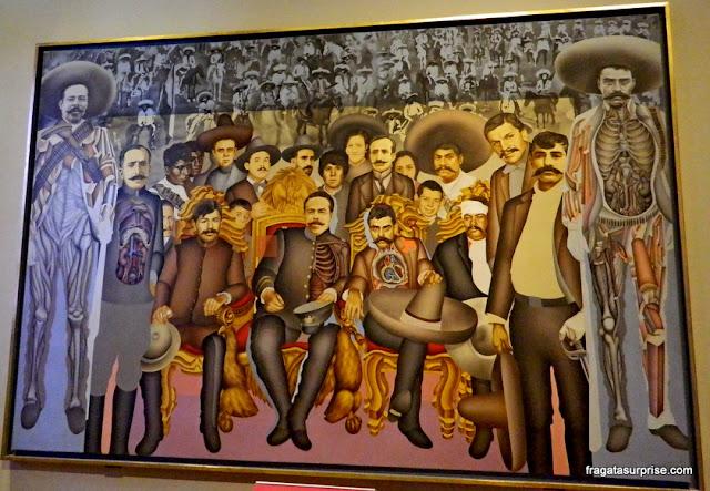 "Mural ""A chegada dos generais Zapata e Villa ao Palácio Nacional"", no Castelo de Chapultepec - Museu de História do México"