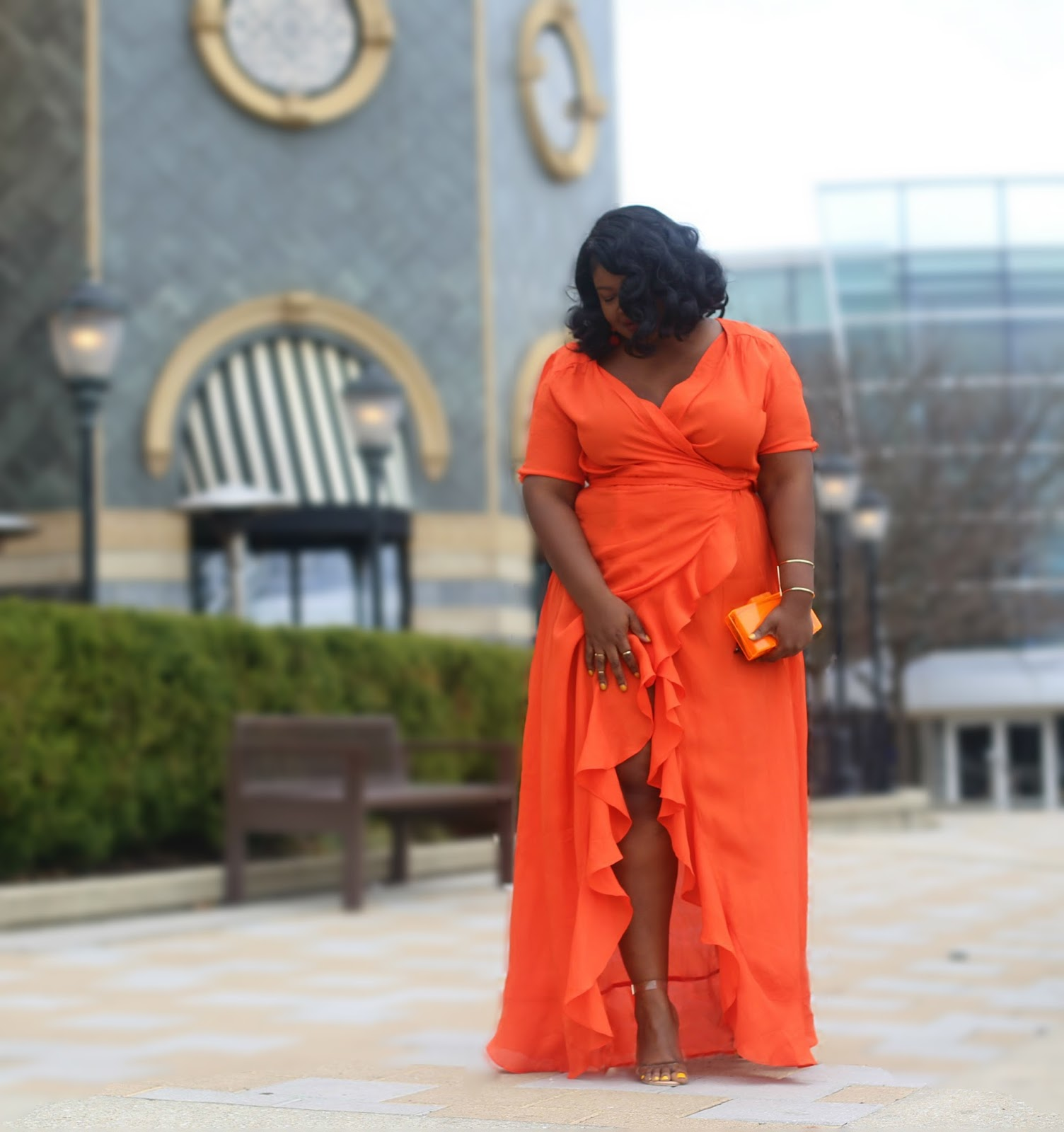 Orange Maxi Dress Under $75 Asos Occasion Wear - SUPPLECHIC