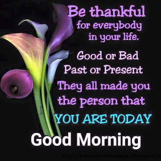 Be Thankful Good Morning