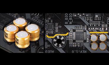 Mainboard Gigabyte, GA-Z370M-DS3H, bo mạch chủ, tụ âm thanh