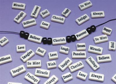 Inspiration beads for Girl Scout Cadette Breathe Journey craft