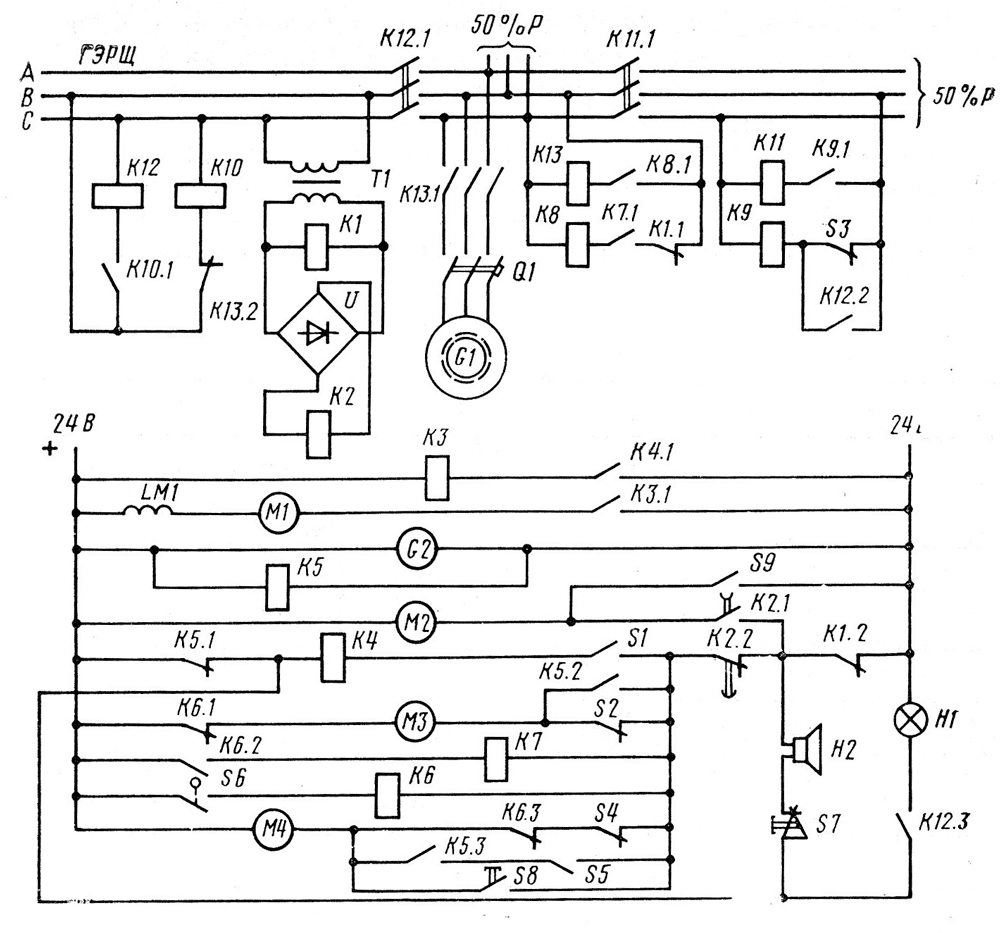 генераторы схемы автоматики дизель