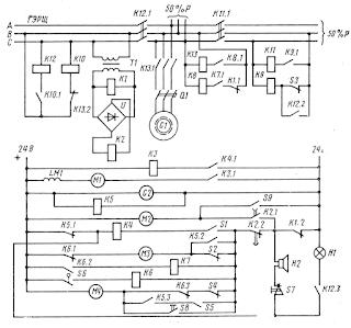 Принципиальная схема автопуска дизель-генератора