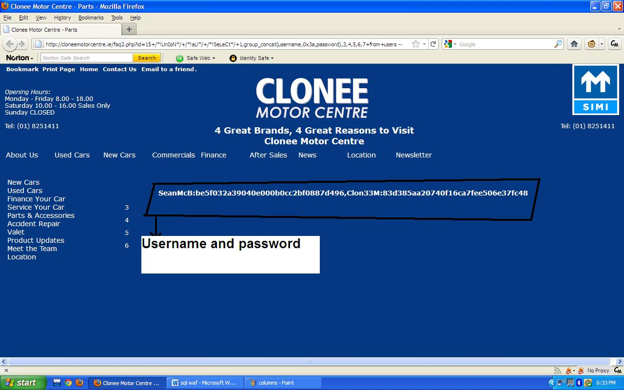 WAF bypass Using Sql Injection ~ Security Explored