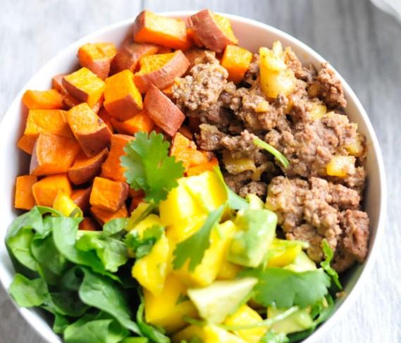 Sweet Potato With Pinapplke Beef