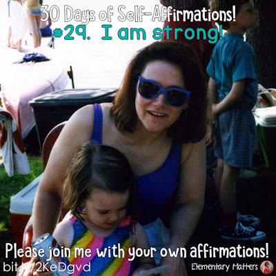 "30 Days of Self-Affirmations: Day 29: I am strong! For 30 days, I will be celebrating my own ""new year"" with self-affirmations. If you are interested in joining me, feel free to write your own affirmations here, or respond on my social media here: http://bit.ly/2JuKRWa  Blog post: http://bit.ly/2KeDgvd"