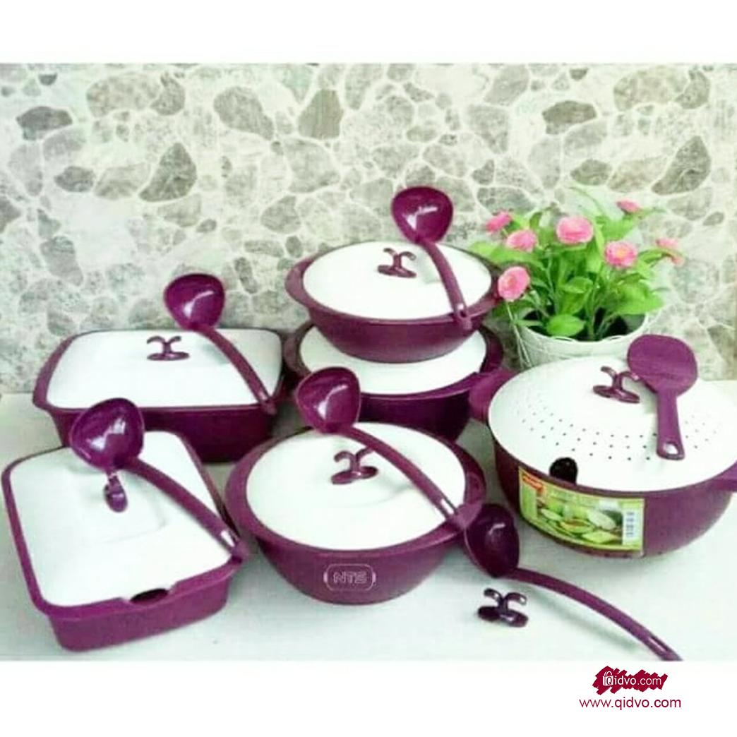 Set Peralatan Alat Makan Asvita Emerald Paket Lengkap 6 Item Lebih Efisien