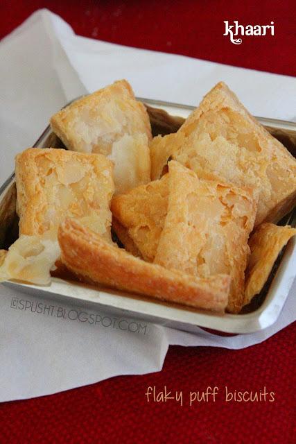 KHAARI light feathery crispy flaky puff biscuits