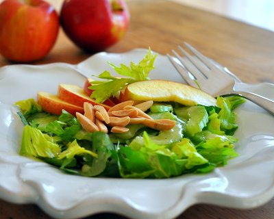 Celery & Apple Salad, another simple, seasonal salad ♥ AVeggieVenture.com
