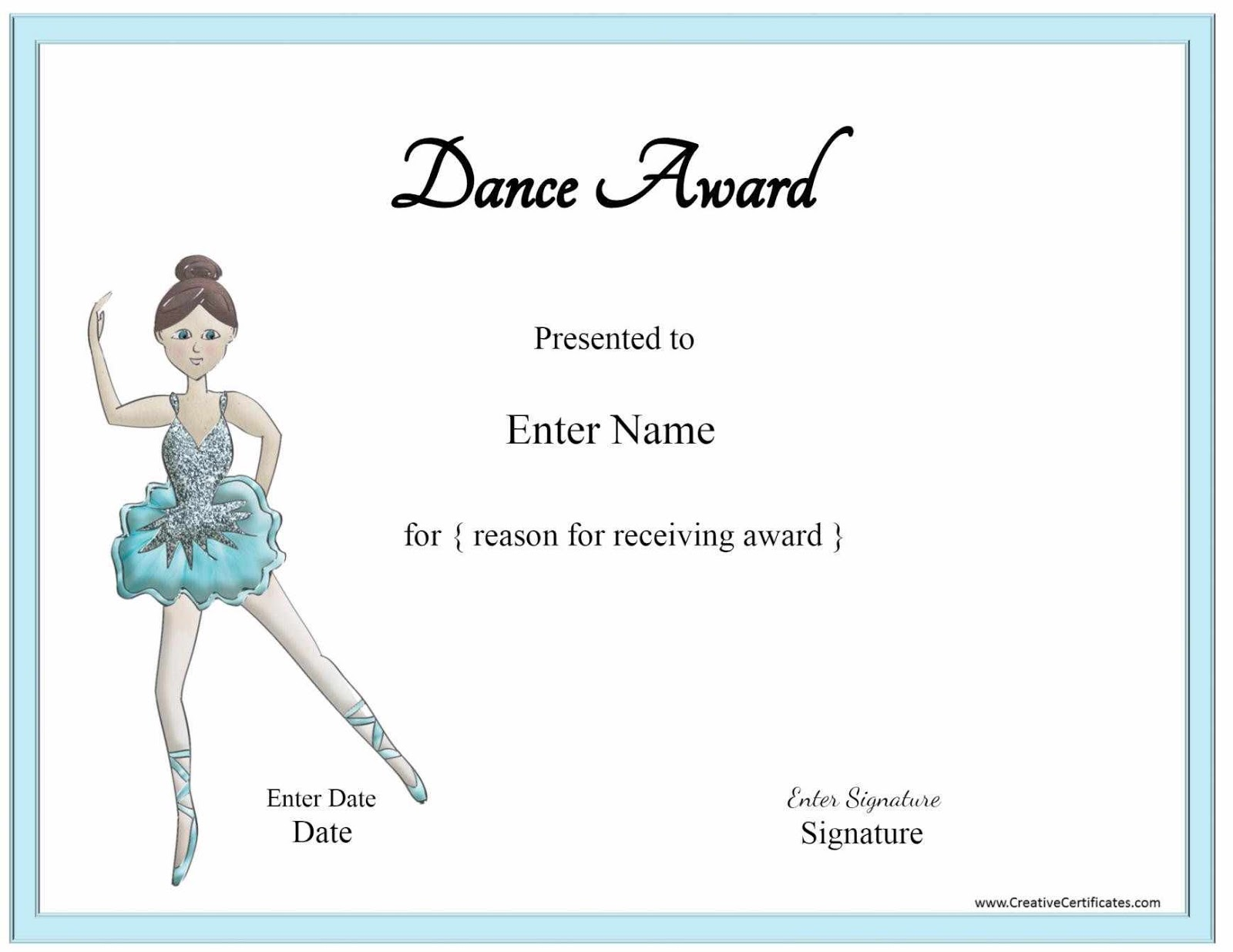 Certificate templates october 2016 award certificate template dance hjaaw yadclub Image collections