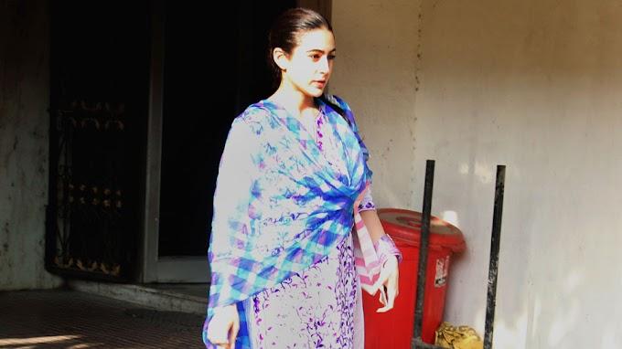 Sara Ali Khan's salwar kameez look post her gym session is winning our Hearts - Viral Pics