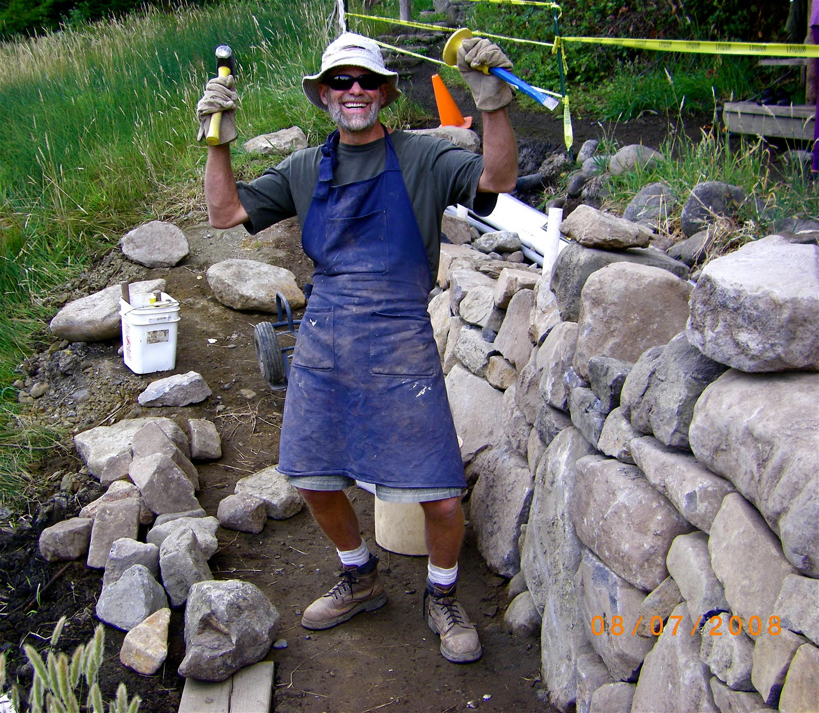 Alt. Build Blog: Tips On Building A Drystack Stone Wall