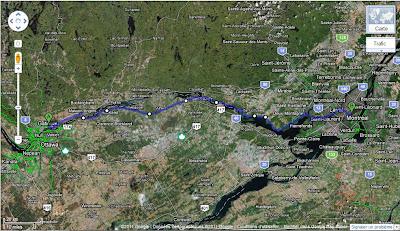 Itinéraire Gatineau-Montréal à vélo