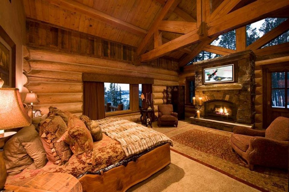 elegant log cabin bedroom ideas