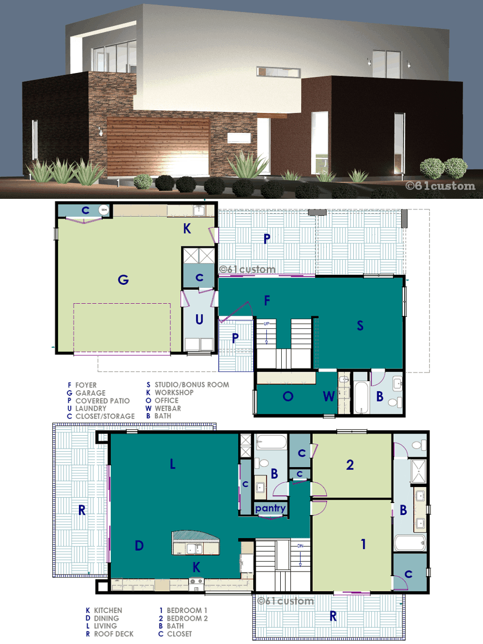 Download 23 modern house plans here
