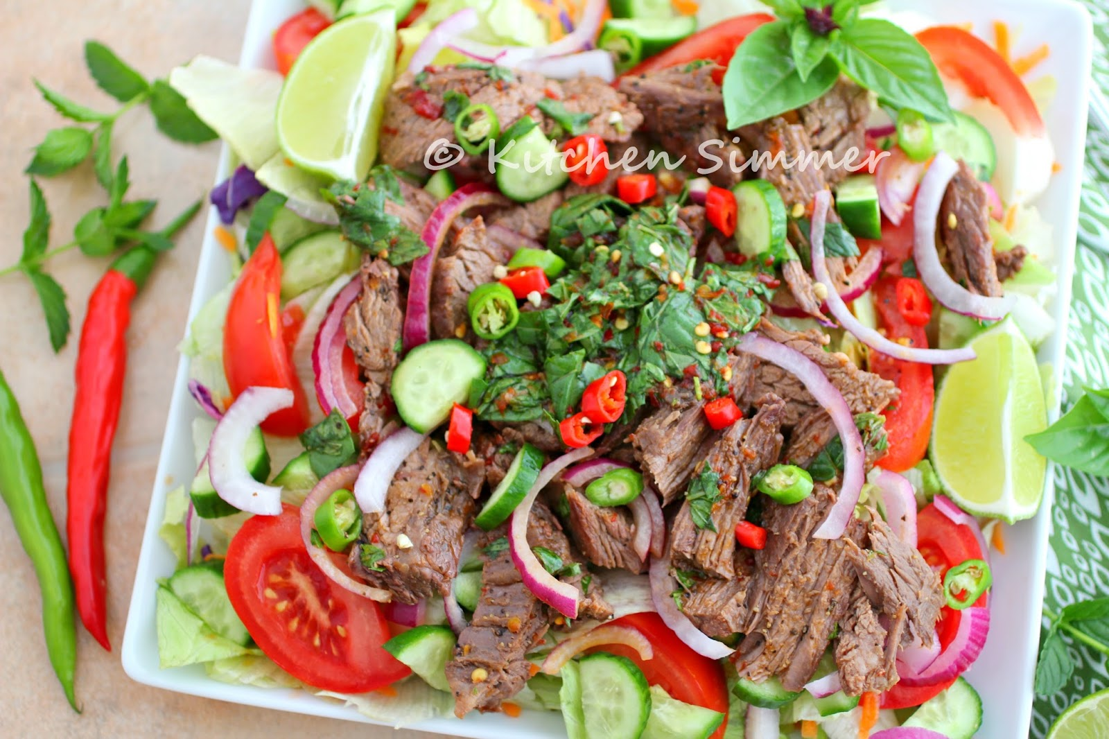 Kitchen Simmer: Thai Beef and Basil Salad