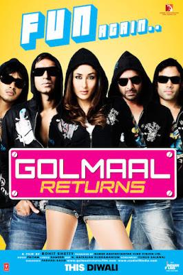 Golmaal Returns 2008 Hindi 720p BluRay 850MB