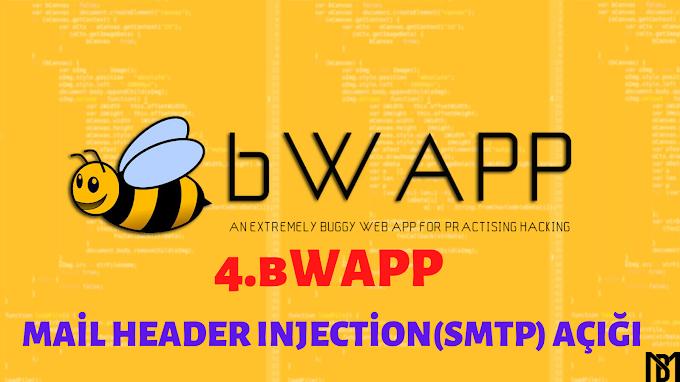 bWAPP | Mail Header Injection(SMTP) Açığı