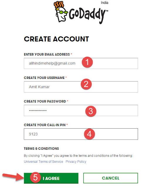 Godaddy Registration account hindi me sikhe