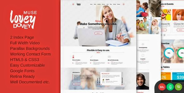 One Page Parallax Muse Template 2015