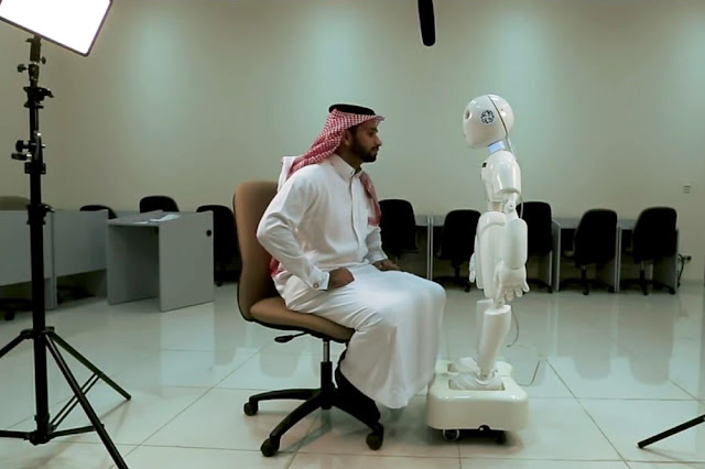 Mosalem, a Saudi Arabian Robot that Has Been Designed to Understand Local Dialect