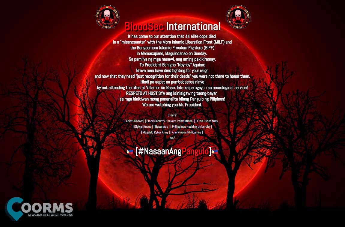 Blood Sec Hackers Hacked PH and GOV Sites