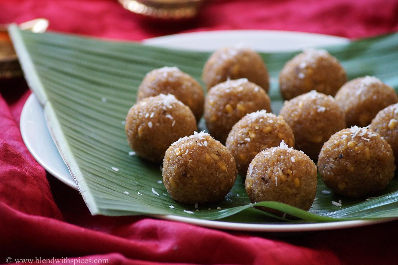 sweet undrallu with godhuma rava, vinayaka chavithi naivedyam recipes, blendwithspices.com