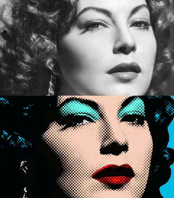 Learn how to make a Pop Art portrait from a photo in Photoshop