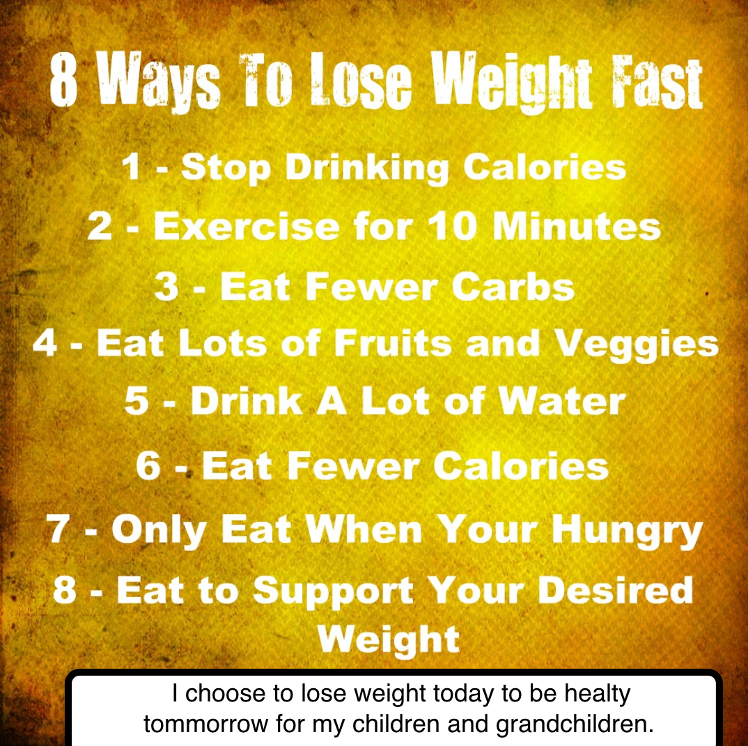 Home ways to reduce weight