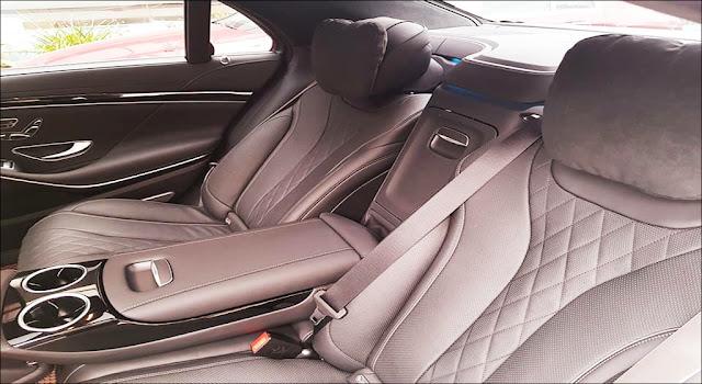 Băng sau Mercedes S450 L Luxury 2019 thiết kế rộng rãi,thoải mái và ngả ra sau được