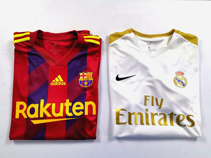 adidas fc barcelona nike real madrid 20 21 kits revealed spanish april fool s day footy headlines adidas fc barcelona nike real madrid