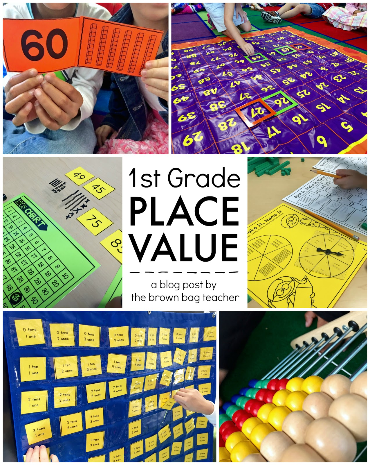 The Brown Bag Teacher Place Value 1st Grade Centers