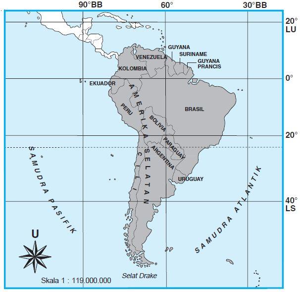 Gambar Peta Amerika 2021
