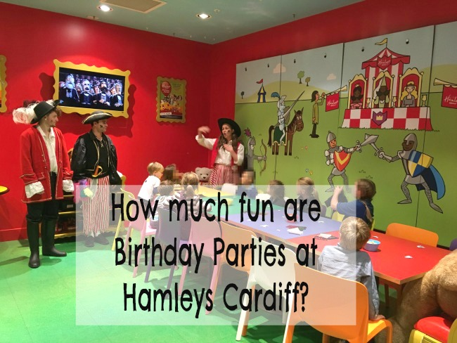How-much-fun-are-Birthday-Parties-at-Hamleys-Cardiff-text-over-image-of-children-at-a-party
