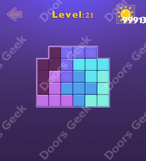 Cheats, Solutions, Walkthrough for Move Blocks Easy Level 21
