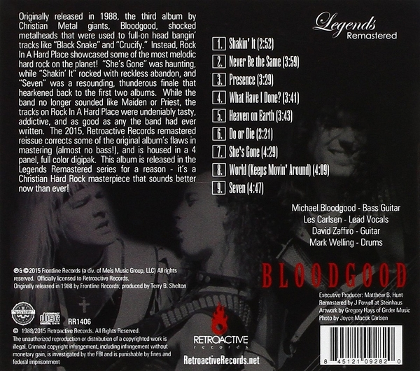 BLOODGOOD - Rock In A Hard Place [Legends Remastered Series] (2016) back