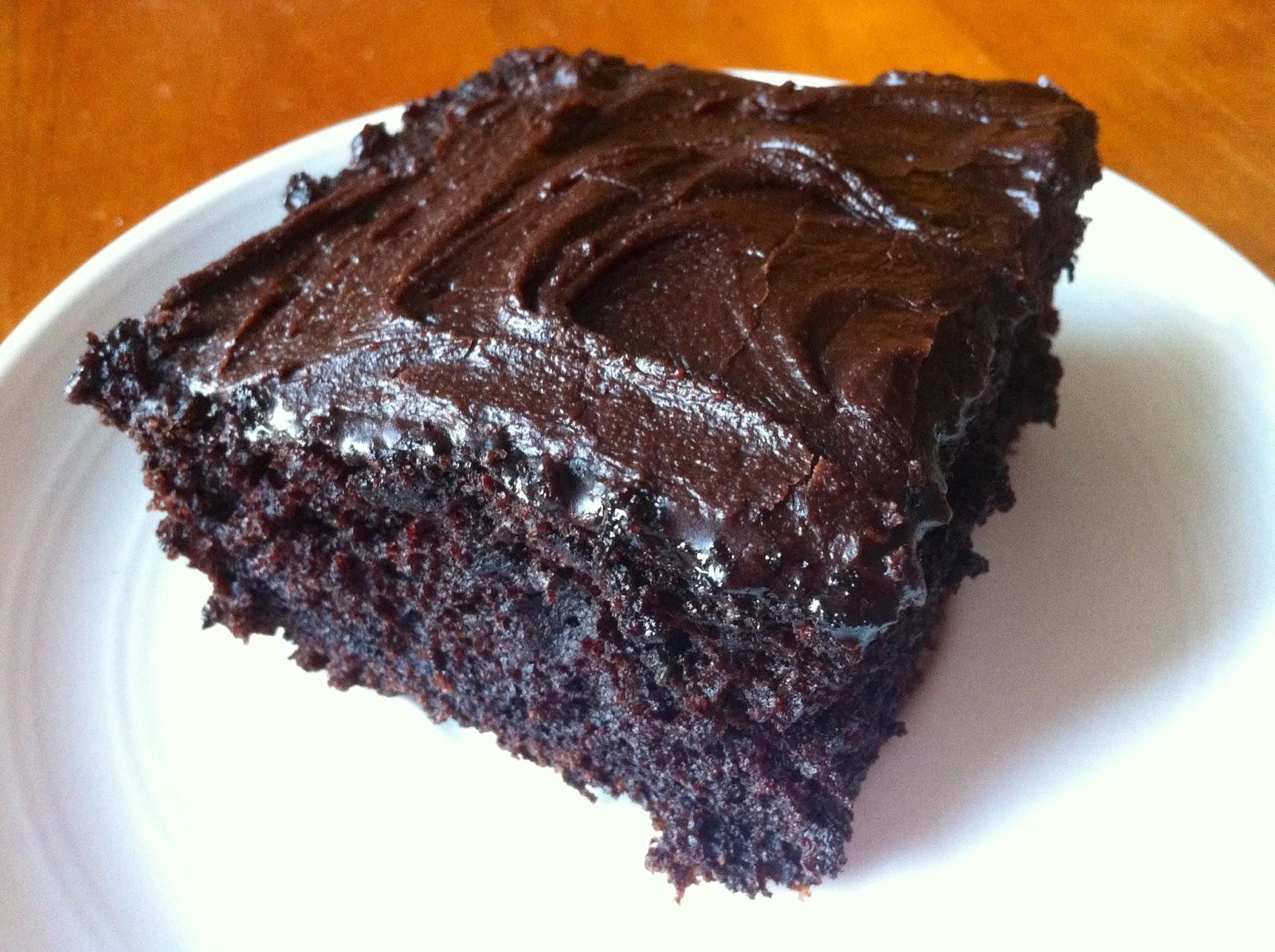 Zucchini Chocolate Chocolate Chip Cake
