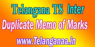 TS Inter Duplicate Memorandum of Marks Telangana TS Intermediate Duplicate Memo of Marks